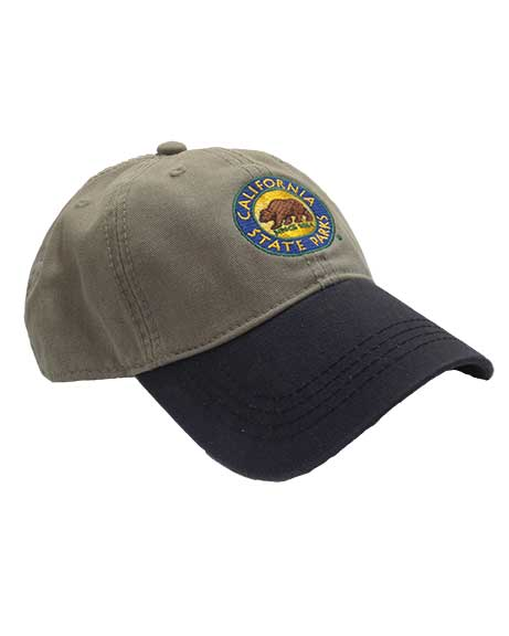 California State Parks Embroidered Baseball Hat, Stone/Navy