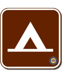 Camp Sign Square Magnet