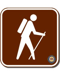 Hike Sign Square Magnet