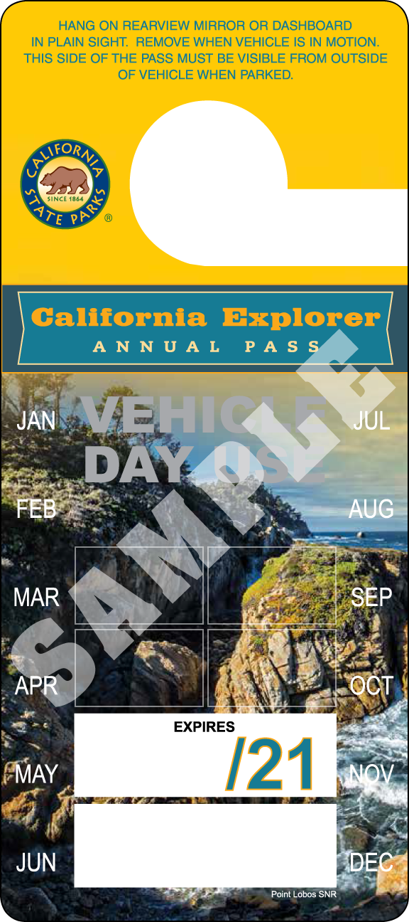 California Explorer Annual Day Use Pass 2021