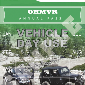 Off Highway Vehicle Day Use Pass 2021