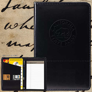 Park Pass Zippered Padfolio