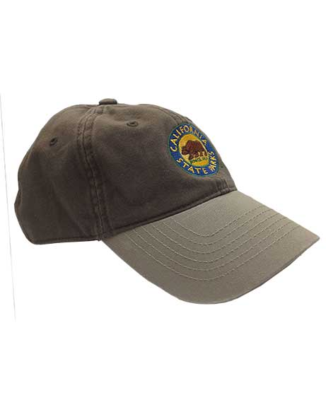 California State Parks Embroidered Baseball Hat, Olive/Stone