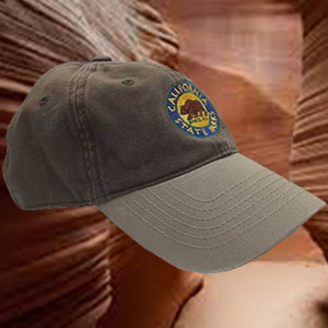 California State Parks Embroidered Baseball Hat, Olive/Stone 2