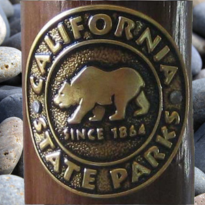 California State Parks Walking Staff Medallion-0