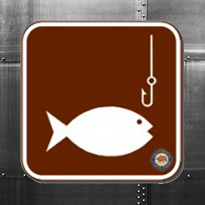 Fish Sign Square Magnet 2