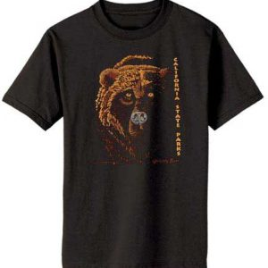 100% Organic Grizzly T-shirt Black-0