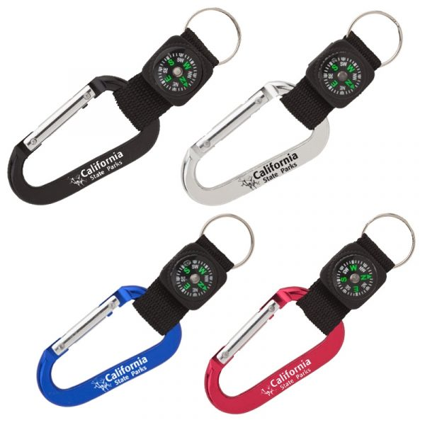California State Parks Carabiner w Compass