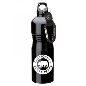 California State Parks 23 oz. Aluminum Water Bottle with Compass Carabiner