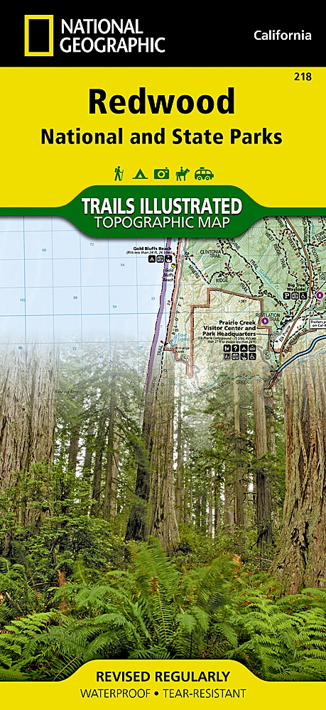 National Geographic Redwood National and State Parks Map