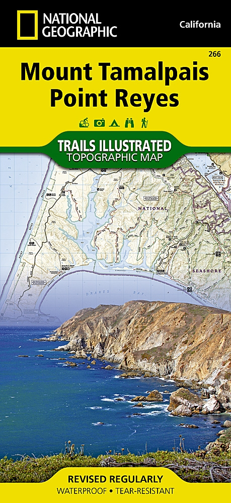 National Geographic Mount Tamalpais, Point Reyes Map