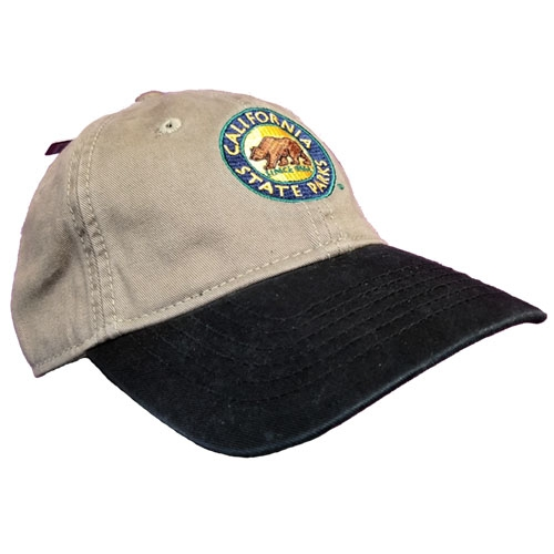 California State Park Embroidered Hat, Sage / Black