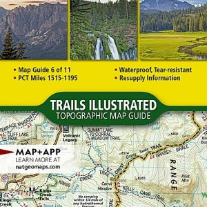 Nat Geo PCT, Lassen and Shasta, Map 6 of 11 (