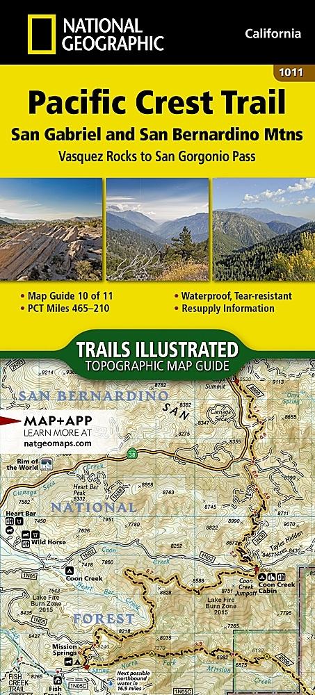 Nat Geo PCT, San Gabriel and San Bernardino Mountains Map, Map 10 of 11