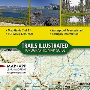 Nat Geo PCT, Sierra Nevada North, Map 7 of 11