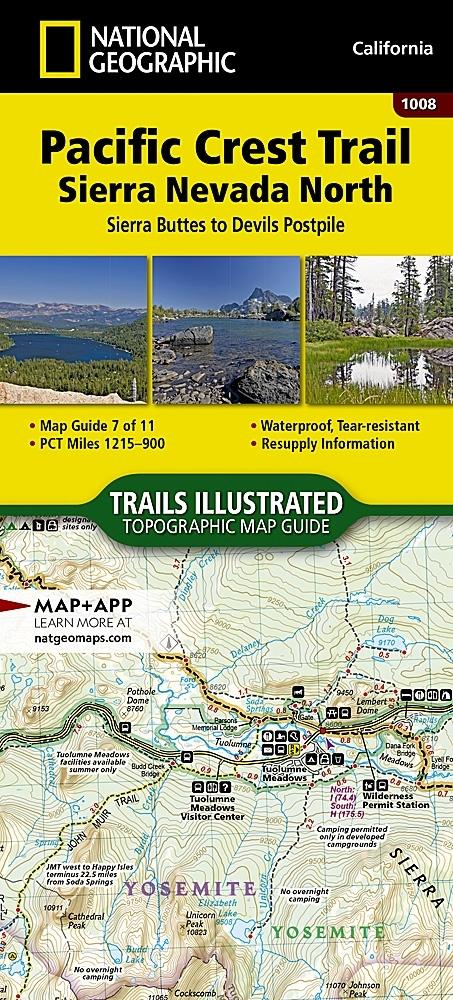 Nat Geo PCT, Sierra Nevada North, Map 7 of 11